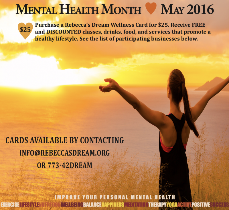 Mental Health Month May 2016